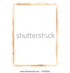 All my aquarelle drawings http://www.shutterstock.com/sets/16601-watercolor-painting.html?rid=498844 — White blank template paper sheet for presentation corporate identity in sepia color isolated on white background — Keywords: a4 brand brown card company corporate document empty example form leaf list monochrome notepaper office page paint paintbrush rectangle sticker technique template texture — #Royalty #free #stock #photo #illustration for $0.28 per download