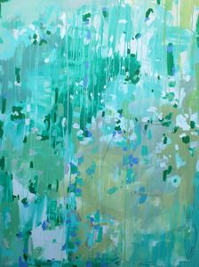 Michelle Armas 'A little more to the left' $1500.00    36x48 acrylic on gallery wrap canvas #lifeinstyle #greenwithenvy