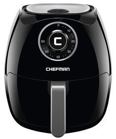 Chefman Quart Air Fryer with Space Saving Flat Basket Oil Hot Airfryer with Dishwasher Safe Parts 60 Minute Timer and Auto Shut Off, BPA Free, Family Size, X-Large, Manual (Renewed) Chefman Air Fryer, Air Fryer Review, Best Air Fryers, Specialty Appliances, Air Frying, Gifts For Your Boyfriend, Black Stainless Steel, Cool Things To Buy, Stuff To Buy