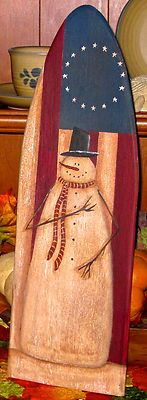 snowman ironing board with red, wht, and blue Wooden Snowmen, Primitive Snowmen, Primitive Crafts, Wood Crafts, Painted Snowman, Painted Ironing Board, Old Ironing Boards, Painted Boards, Snowman Crafts