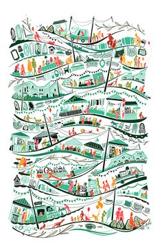 Flea Market by Livy Long, via Behance. Food and object illustration Pattern Illustration, Children's Book Illustration, Motif Floral, Grafik Design, Surface Pattern Design, Print Patterns, Design Patterns, Design Design, Lightroom
