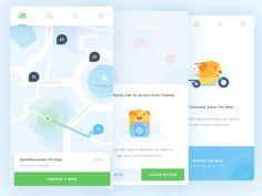 App Concept for Rent a Free Bike bike city dashboard hamster illustration ios jogja location maps mobile nearby search App Ui Design, Mobile App Design, Mobile App Ui, User Experience Design, Digital Trends, Web Design Inspiration, App Development, Personal Development, Masters