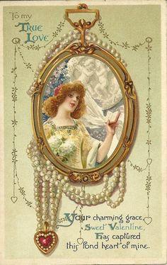 . Valentine Cupid, Valentine Picture, Valentine Images, Vintage Valentine Cards, Saint Valentine, Valentines Day Hearts, Vintage Greeting Cards, Vintage Ephemera, Vintage Postcards