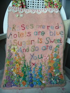 Beautiful embroidery by Maggie Neale