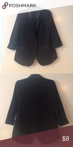 Black blazer 3/4 sleeves Cute light weight black blazer with pockets! From Love Culture. Love Culture Jackets & Coats Blazers