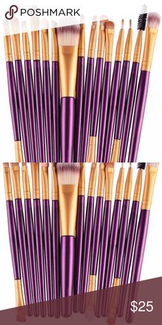 Break-up to Make-up! Plush purple brushes! Bring sexy back by New Year's Eve! Six inch brushes will fit nicely in any cosmetic bag💜💄👛👗 Makeup Brushes & Tools