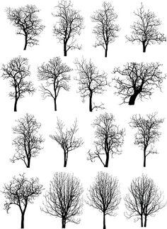 Мертвое дерево без листьев Векторная иллюстрация белой векторная иллюстрация