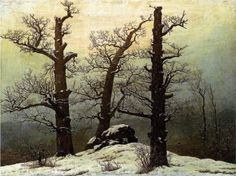 """Dolmen in snow"" by Caspar David Friedrich"