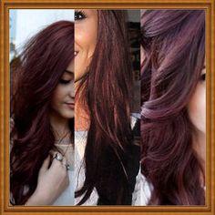 Dark cherry brown hair