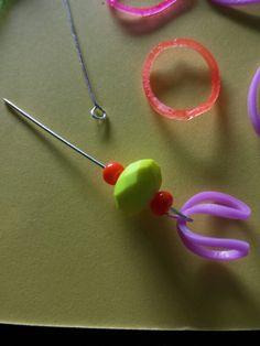 Eye pin and bead clasp for the Bandz bracelets.