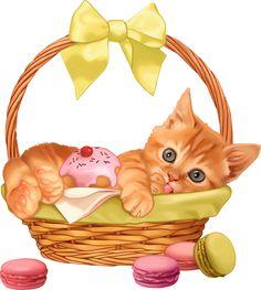 0_2143f3_f3bf12b5_orig Cartoon Monkey, Kitten Cartoon, Cute Cats And Kittens, Baby Cats, Cute Animal Clipart, Kitten Drawing, Kitten Images, Cat Cards, Vintage Cat