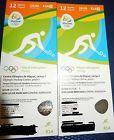 #Ticket  2 Tickets Hockey Rio 2016 12.08.Olympia Olympic Games BE  NZ  AU  Brazil #Ostereich