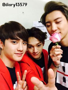 Music Bank 150410 : D.O., Chen, and Chanyeol