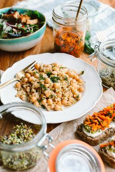 DIY: Grow Your Own Sprouts + 3 Lunch Recipes // by Faring Well #vegan #recipe