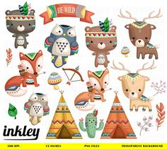 Tribal Animal - Clipart Commercial Use Vector Graphic Digital Clip Art Digital Images Cute Kawaii Scrapbooking PNG Art Cute Animal Clipart, Bear Clipart, Cute Clipart, Tribal Animals, Cute Animals, Vintage Logo, Vintage Clip, Illustration Vector, Clip Art