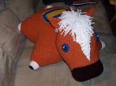 Legend of Zelda crocheted Epona Pillow Pet!!! OMG