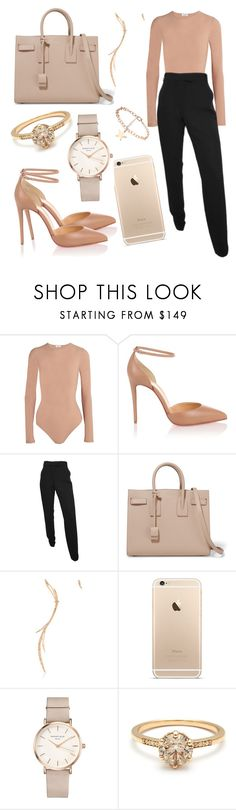 """""""Untitled #8299"""" by tatyanaoliveiratatiana ❤ liked on Polyvore featuring Alix, Christian Louboutin, Yves Saint Laurent, Cristina Ortiz and ROSEFIELD"""