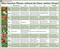 Dünger-Kalender