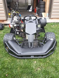 Gokart Plans 658158933016730559 - Johnny 5 Ready for his first drive Source by mexicaininutile Karting, Electric Go Kart, Electric Cars, Go Kart Motor, Triumph Motorcycles, Custom Motorcycles, Go Kart Chassis, Adult Go Kart, Custom Power Wheels