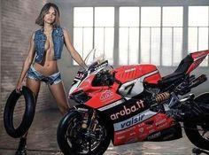 (notitle) - Not the correct protective gear - Motorbike Girl, Motorcycle Bike, Lady Biker, Biker Girl, Ducati, Biker Photoshoot, Motard Sexy, Woman Mechanic, Hot Bikes