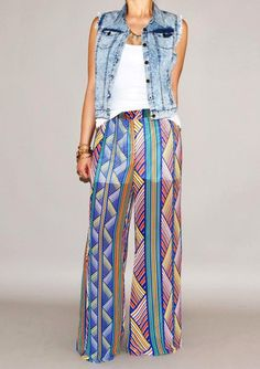Add this super rad Patterened Flared Pants to your summer wardrobe!!! Available now at Urban Philosophy! #fashion #shopping #womansfashion