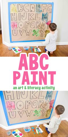 ABC Paint Match: an easy kids activity Child Development Activities, Preschool Learning Activities, Preschool Activities, Language Development, Alphabet Activities, Teaching Ideas, Early Learning, Kids Learning, Toddler Arts And Crafts