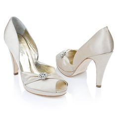 Sofia Satin Peep Toe Shoes