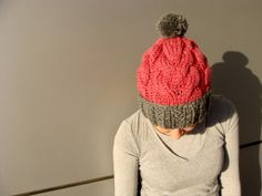 Nudakillers - beanie, cable knit, handmade, knitted