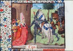 """""""Les Adieux d'Andromaque et d'Hector""""  Christine de Pisan, Epître d'Othéa, La Haye, Bibliothèque Meermanno, KB74G27 1450-1475"""