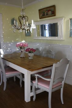 My Shabby Chic farm table au natural...