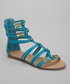 Another great find on #zulily! Turquoise Andrew Gladiator Sandal #zulilyfinds