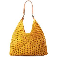 Mar Y Sol Palermo Raffia Tote - Yellow (105 AUD) ❤ liked on Polyvore featuring bags, handbags, tote bags, yellow, man bag, mar y sol tote, hand bags, yellow tote bag and yellow purse