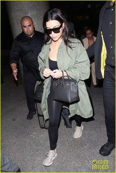 Kim & Kourtney Kardashian Return From Iceland Trip