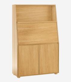 Bureau alin a pas cher achat bureau style scandinave aquila tiroirs imitat - Secretaire meuble habitat ...