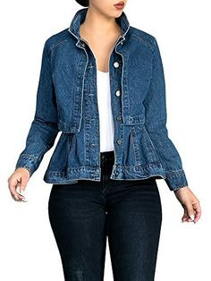"Lovaru Women's Fashion Boyfriend Cape Up Peplum Button Down Denim Jean Jacket   	 		 			 				 					Famous Words of Inspiration...""Can't live with 'em. Can't legally torture them to death.""					 				 				 					Author Unknown 						— Click here for more from Author...  More details at https://jackets-lovers.bestselleroutlets.com/ladies-coats-jackets-vests/denim-jackets/product-review-for-lovaru-womens-fashion-boyfriend-cape-up-peplum-button-down-denim-jea"