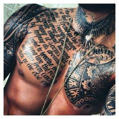 106 Insanely Hot Tattoos For Men ❤ liked on Polyvore featuring men's fashion