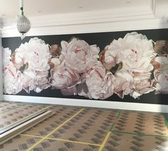 wall mural by Thomas Darnell Art Floral, Deco Floral, Floral Wall, Big Flowers, Wedding Flowers, Thomas Darnell, Wall Art Wallpaper, Wow Art, Dream Home Design