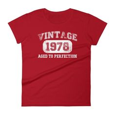 Women's Vintage 1978 Aged to perfection T-shirt - 39th birthday ideas
