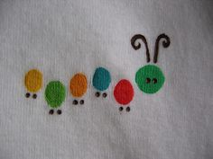 Cute painted onesies with a link for making freezer paper stencils