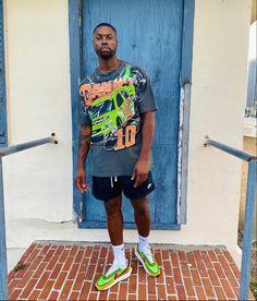 Black Men Street Fashion, Dope Fashion, Fashion Killa, Streetwear Shorts, Streetwear Fashion, Rolling Loud Miami, Miami Outfits, Street Wear, Swag