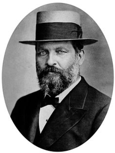 James A. Garfield, 20th President of the U.S., in a hat.