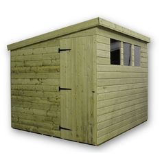 10 x 8 Maldon Pressure Treated T&G Pent Shed + 3 Windows + Side Door (10ft x 8ft)