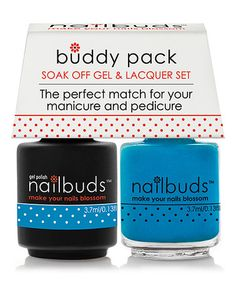 Love this Cowboy's Larkspur Gel Polish & Nail Lacquer Buddy Pack on #zulily! #zulilyfinds