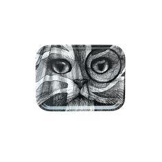 Rory Dobner - Small Tray - White Cat Flag