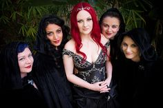 with the fabulous caped bridesmaids by Lara Edits, via Flickr