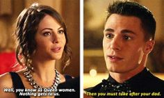 Arrow - Thea & Roy #2.8 #Season2 Arrow Quote, Arrow Cw, Arrow Oliver, Supergirl Dc, Supergirl And Flash, Roy And Thea, Arrow Memes, Thea Queen, The Flash Grant Gustin