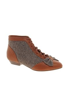 Tweed/tan booties from ASOS.
