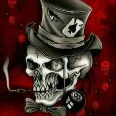 Mad Hatter Skull