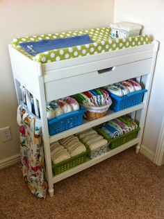 Making My Stead: Cloth Diaper Storage Solutions
