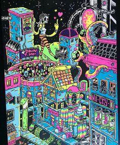 @gloombones #brutlikes #illustration #lowbrow #popsurrealism #popart #popculture #art #digitalart by brutmagazine